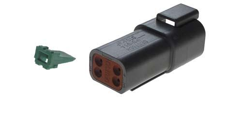 4-PIN RECEPTACLE & WEDGE LOCK CC