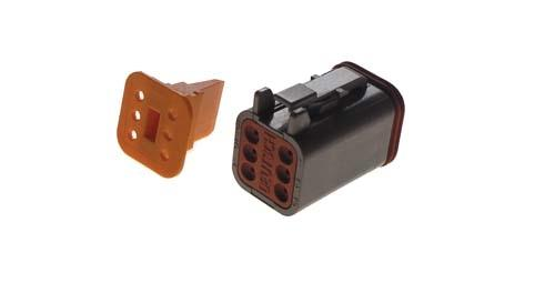 6 PIN PLUG & WEDGE LOCK CC