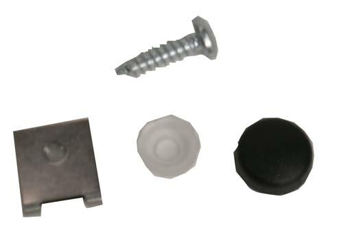 Dash, snap washer mounting kit (black) CC 82-up DS