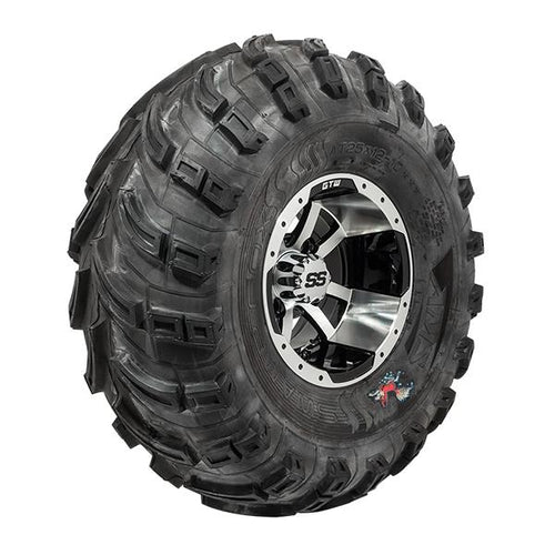 "Set of (4) 10"" GTW Machined/Black Storm Trooper Wheels On Mud Tires"