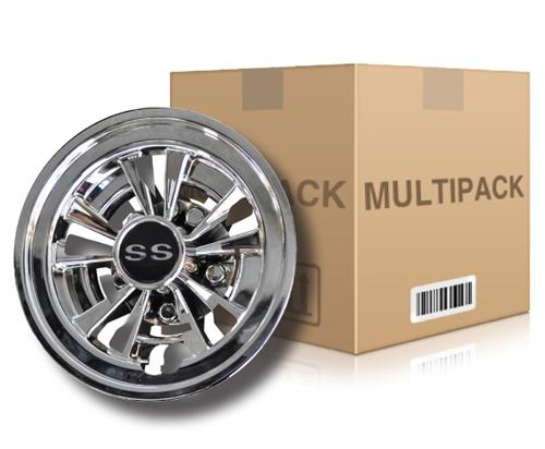 "Madjax 8"" 10 Spoke SS Wheel Cover 48-pack"