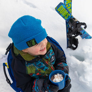Lucky Bums Toddler Kids Beginner Snow Skis and Poles Set