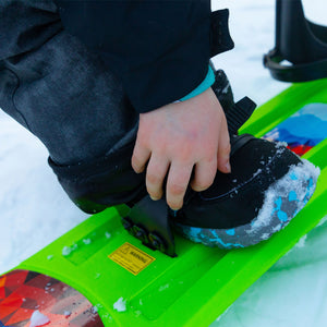 Lucky Bums 120cm Kids Plastic Snowboard