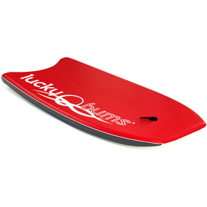 Lucky Bums Body Board for Kids and Adults, Red