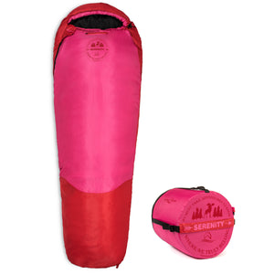 Lucky Bums Youth Serenity II Mummy Style Sleeping Bag, Compressing Carry Bag Included