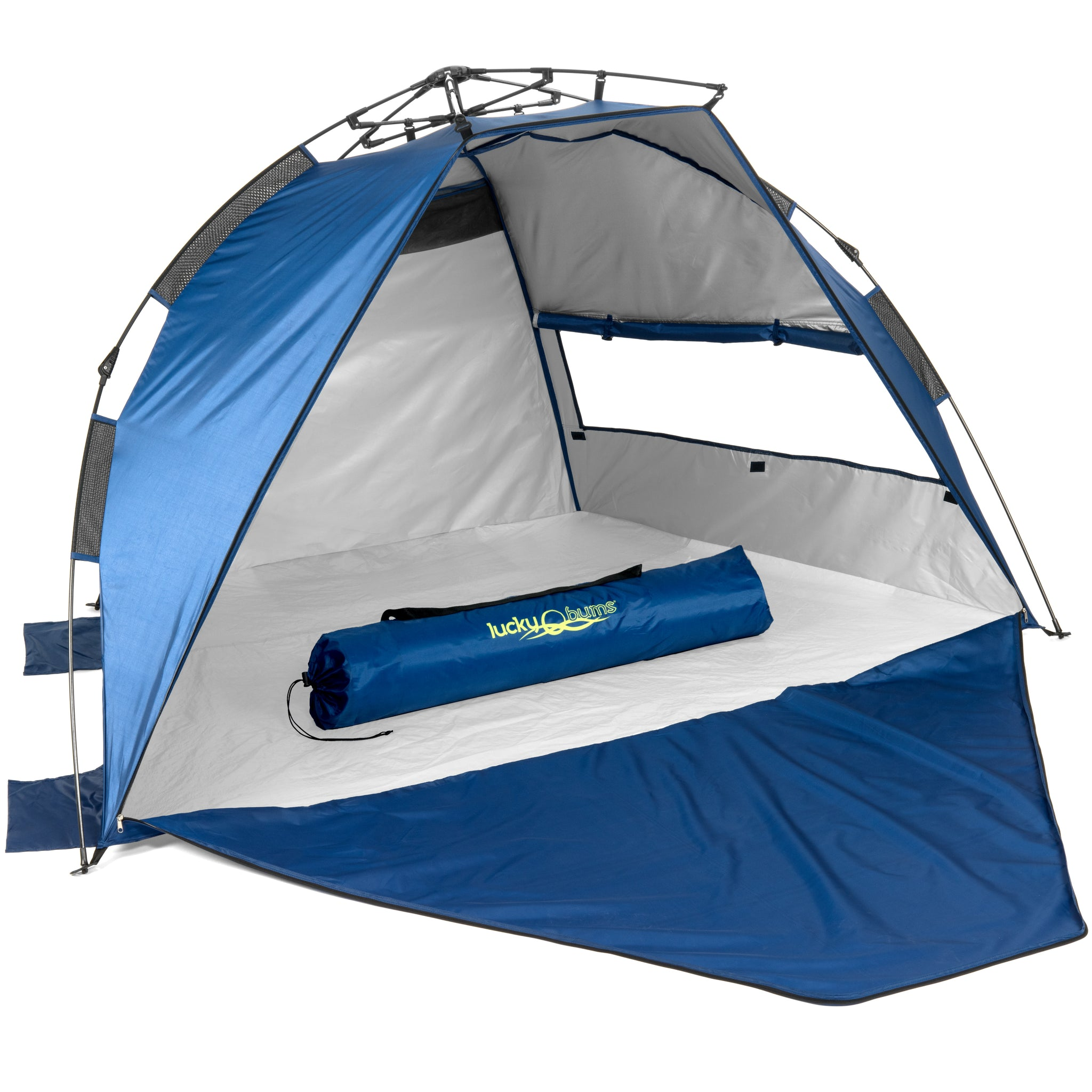 sc 1 st  Lucky Bums & Lucky Bums Easy Pop Up Beach Tent Sun Canopy