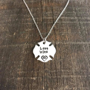 FireFighter Love Wins Necklace