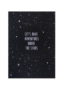 Let's have adventures under the stars