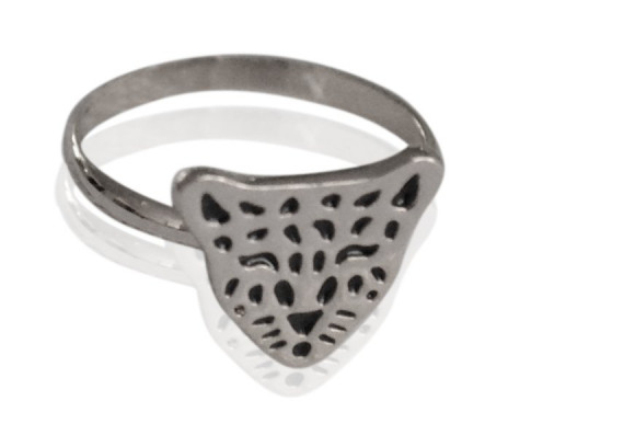 Ring Leopard Silver