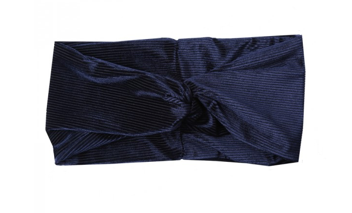 Hairband Corduroy-Velvet Navy