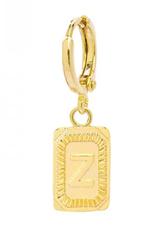 Single ring earring Initial Z