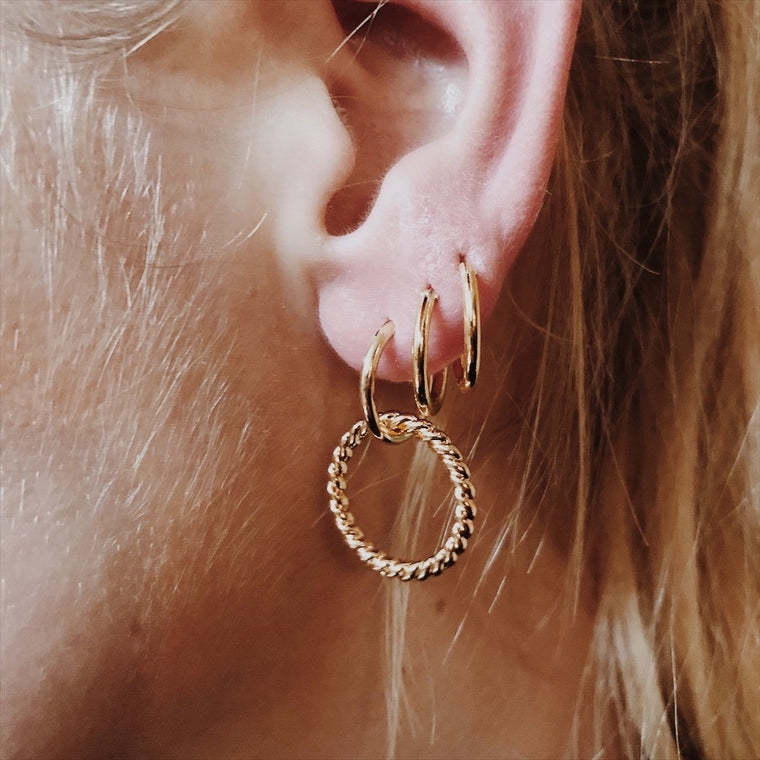 Single ring earring Curly