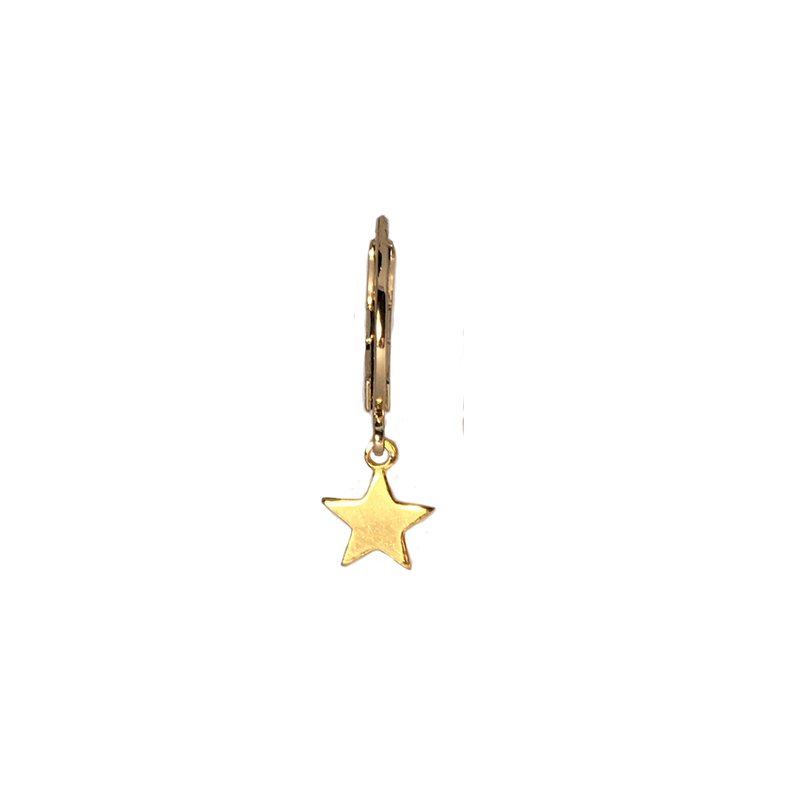 Single ring earring Little star