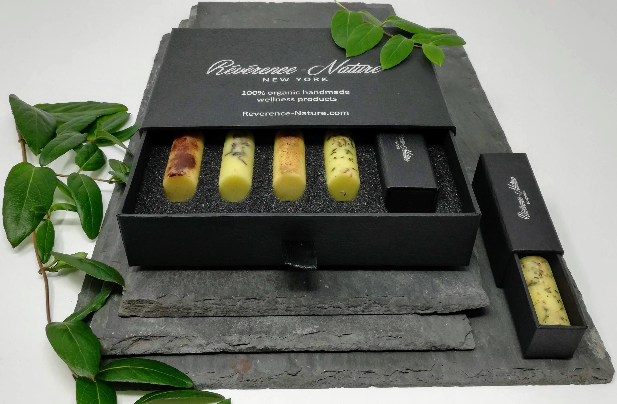 Luxury organic handmade essential oil massage bars