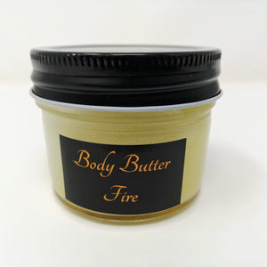 Body Butter FIRE with Ylang Ylang & Peppermint (4oz)