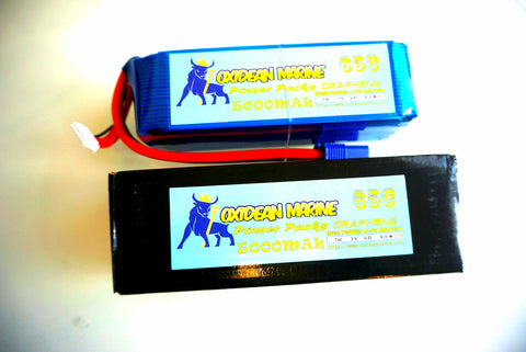 Oxidean Marine Power Packs 5000mah 65c 6s Lipo