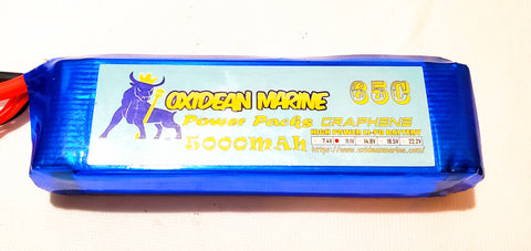 Graphene lipo battery Oxidean Marine Power Packs 5000mah 65c 3s Lipo