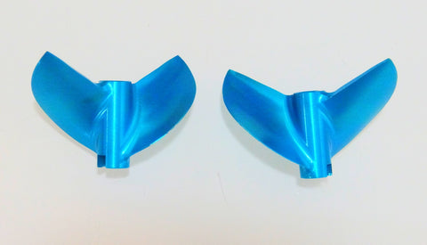 Oxidean Marine Pair CNC High rake rc boat propeller 45.7mm (1817 equivallent)3/16 bore