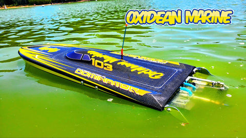 Carbon Fiber Rc Boat DOMINATOR Mono RTR - Black Carbon