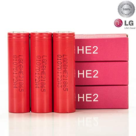 LG HE2 18650 2500mAh 20A Battery - Seattle Vape Wholesale
