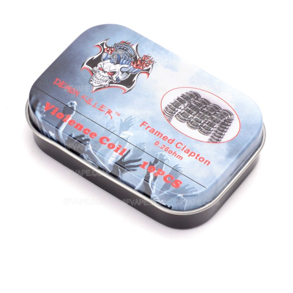 10pcs Demon Killer Framed Clapton Coil - Seattle Vape Wholesale