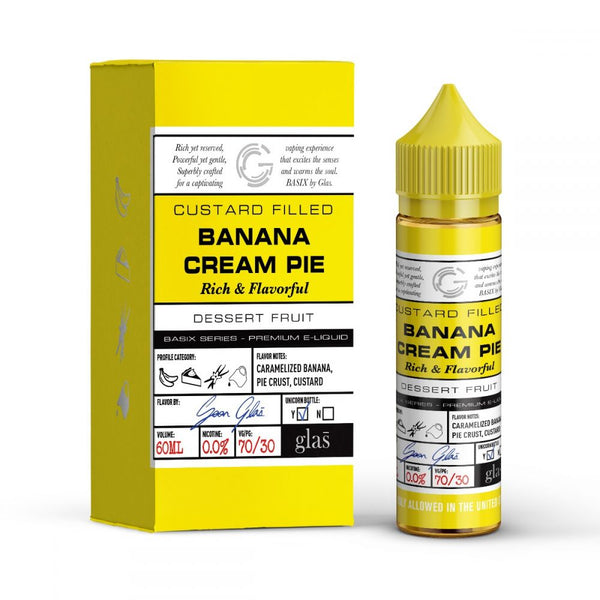 GLAS Basix Series  - Banana Cream Pie - Seattle Vape Wholesale
