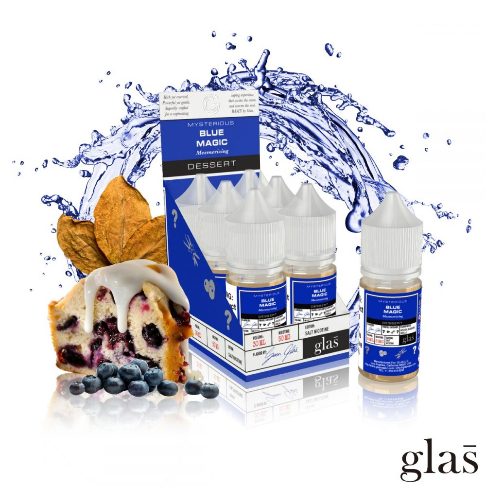 GLAS Basix Nic Salts - Blue Magic 50mg - Seattle Vape Wholesale