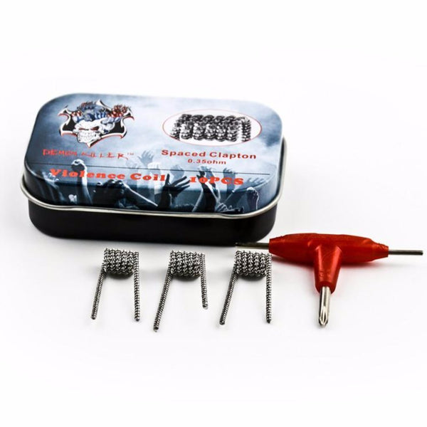 10pcs Demon Killer Spaced Clapton Coil - Seattle Vape Wholesale