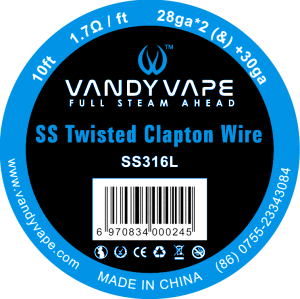VandyVape Twisted Clapton Wire - Seattle Vape Wholesale