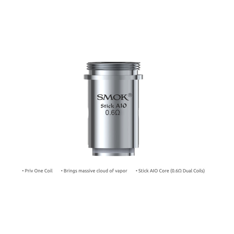 SMOK PRIV ONE / AIO COIL 0.6 ohm - 5 PACK - Seattle Vape Wholesale