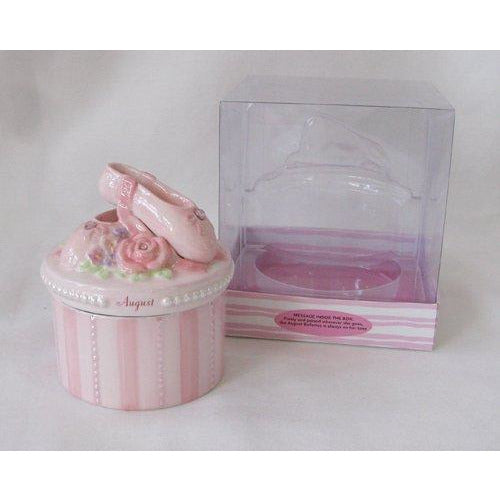 A Time to Dance STORAGE_BOX Russ A Time To Dance Classics August Pink Ballerina Trinket Box