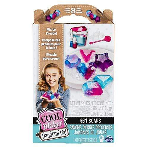 Cool Maker GLITTER Cool Maker, Handcrafted Gem Soaps Activity Kit, Makes 8 Soaps, for Ages 8 & Up