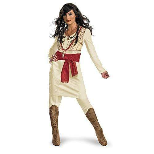 Disguise ADULT_COSTUME Beige/Red / Small (4-6) Disguise Unisex Adult Deluxe Tamina, Beige/Red, Medium (8-10) Costume