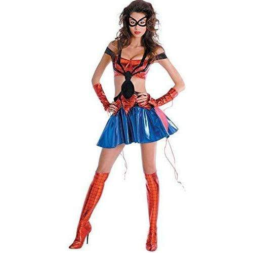 Disguise ADULT_COSTUME Multi-color / Large Spider-Girl Sassy Prestige Adult Costume Size 12-14 Large