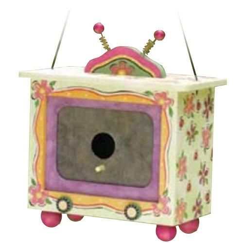 Encore OUTDOOR_LIVING Fushia Floral Birdhouse
