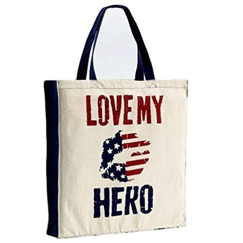 Enesco Art and Craft Supply Enesco Homefront Girl Love My Hero Tote, 16.7-Inch