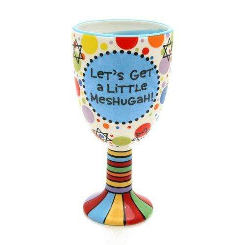 Enesco DRINKING_CUP Our Name Is Mud by Lorrie Veasey Meshugah Ceramic Goblet, 8-1/4-Inch