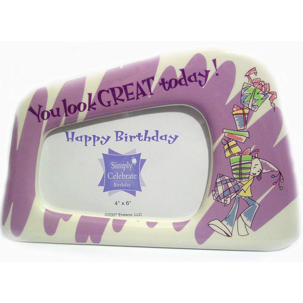 Enesco Furniture 4x6 Ceramic 'You look Great Today' Photo Frame by Enesco