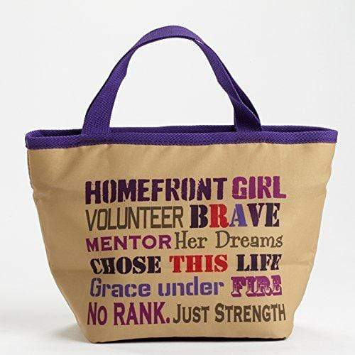 Enesco Furniture Enesco Homefront Girl - Lunchbag Word Cloud