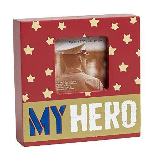 Enesco Home Enesco Homefront Girl by Gaby Juergens My Hero Photo Frame, 4-Inch