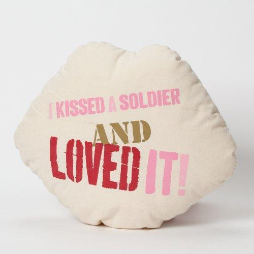 Enesco Home Enesco Homefront Girl I Kissed a Soldier and I Loved it Pillow