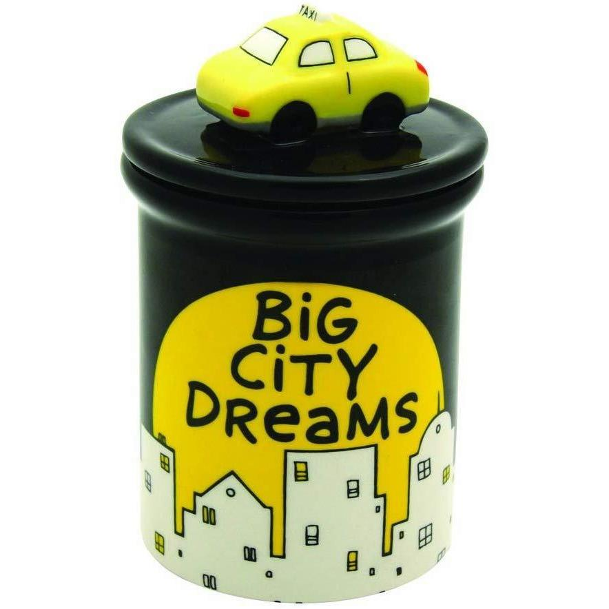 Enesco Kitchen Our Name Is Mud by Lorrie Veasey Big City Dreams Jar, 6-Inch