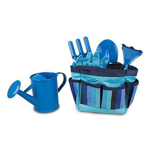 Gardenline BABY_PRODUCT Gardening Tool Set for Kids - Toy Shovel Gardening Set - Outdoor Toy with Carrying Bag - Blue