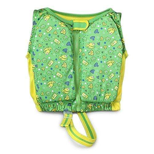 Kids Stuff SPORTING_GOODS Kids Stuff Green and Yellow Fishes Swim Vest Small/Medium 20-33 lbs