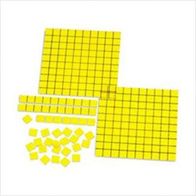 Learning Resources TOYS_AND_GAMES OVERHEAD BASE TEN YELLOW 52-PK
