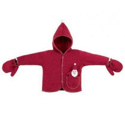 North American Bear BABY_COSTUME Fuzzy Wear Santa Suit Jacket Red, 12 -18 months