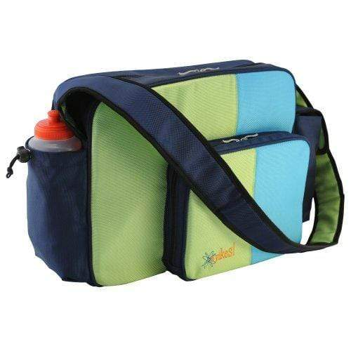 O Yikes! HANDBAG O Yikes Blue and Keylime Messenger Diaper Bag