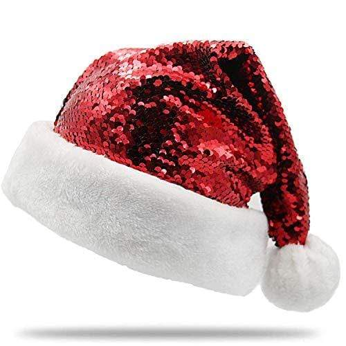 PLUSHIBLE BRIDGING MILES WITH SMILES HEALTH_PERSONAL_CARE Plushible Christmas Santa Hat - Color Changing Holiday Hat - Red/Green
