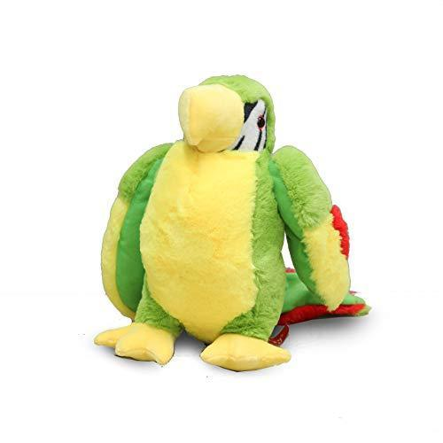 "PLUSHIBLE BRIDGING MILES WITH SMILES Toy PLUSHIBLE BRIDGING MILES WITH SMILES 12"" Macaw Parrot Stuffed Toy (Green)"