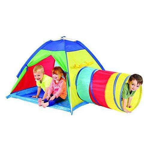 Plushible.com TOYS_AND_GAMES Multi-color Play Tent with Tunnel